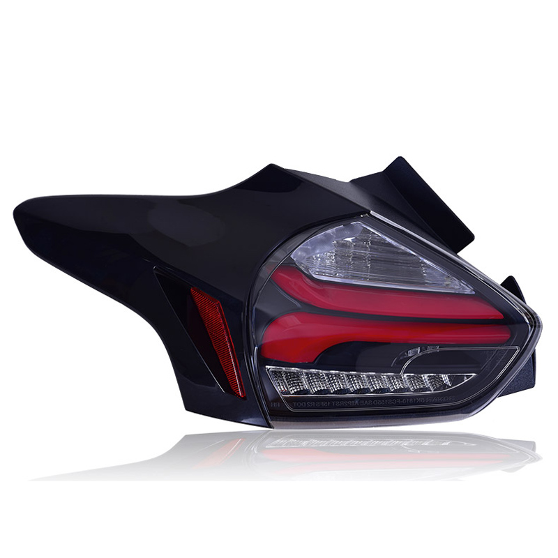 Tail lights LED Smoke Lens Rear <font><b>Taillight</b></font> Assembly Lamp Fit For <font><b>Ford</b></font> <font><b>Focus</b></font> 2015-2017 image