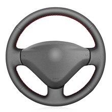 Черный PU искусственная кожа DIY чехол рулевого колеса автомобиля для Citroen Berlingo 2008-2016 Jumpy 2009-2016 Toyota Proace 2013-2016