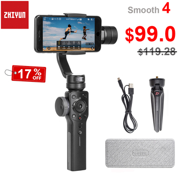 Zhiyun Smooth 4 3-Axis Handheld Smartphone Gimbal Stabilizer for iPhone 11 Pro XS X 8Plus 8 7P Samsung S10 S9 S8 PK Feiyu Vimble