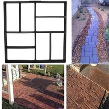 40x40cm DIY Garden Path Mould Road Driveway Paving Brick Patio Concrete Slabs Path Garden Walk Maker