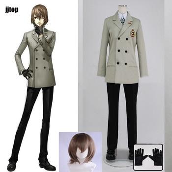 Persona 5 Cosplay Goro Akechi mundurek szkolny P5 kostiumy kostiumy Cosplay kostium stroje peruka wykonane na zamówienie