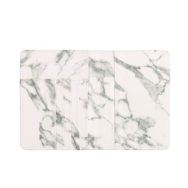 Nordic Style Marble Passport Holder Leather Passport Cover with RFID Blocking Marble Card Case Travel Wallet