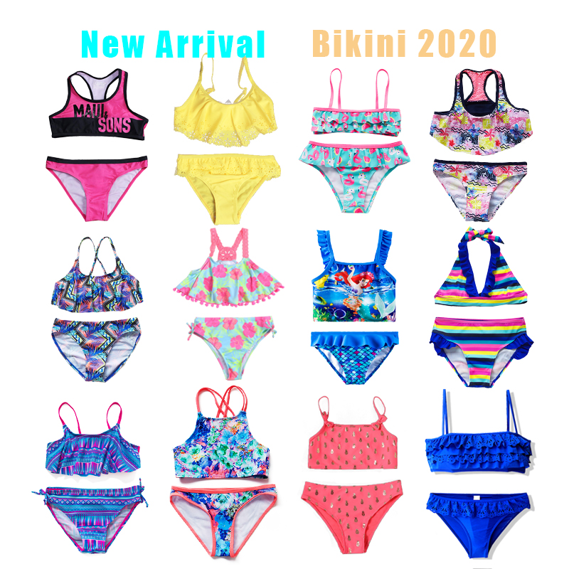 2019 Girls Bikini Suits 6-15Years Two-Pieces Summer Bathing Suits Fashion Girls Swimsuits Sports Swimwear For Kids Girls CZ984