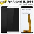 5 5 'для Alcatel 3L 5034D 5034 ЖК-дисплей + сенсорный экран в сборе стеклянная панель дигитайзер сенсорный датчик для Alcatel OT5034 LCD