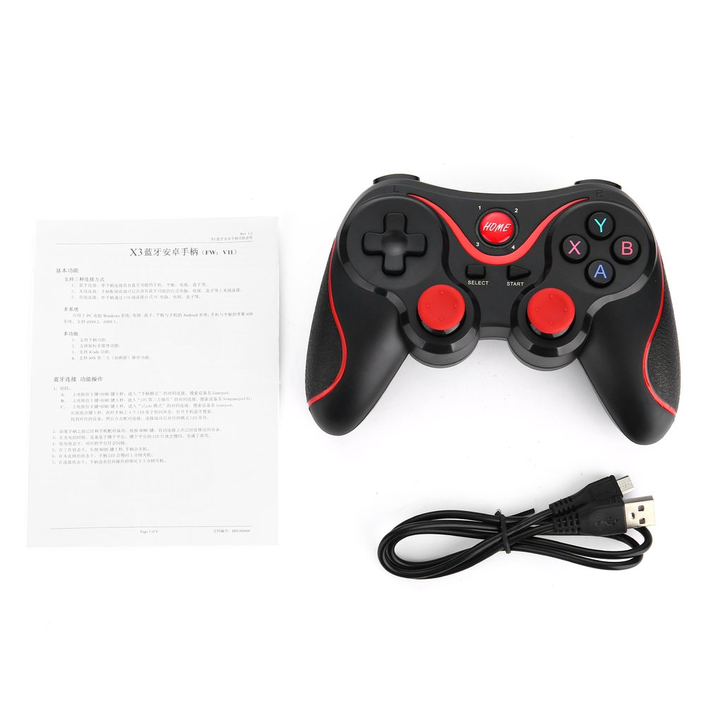 Protable T3 Wireless Bluetooth V3.0 Gamepad Dual Analog Joystick Gaming Controller Suitable For Android Smartphones Tablets