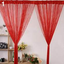 1Pcs Plain String Deur Gordijn Scherm Scheidingswand Window Decor Diy Blind Tassel Drape Woondecoratie(China)