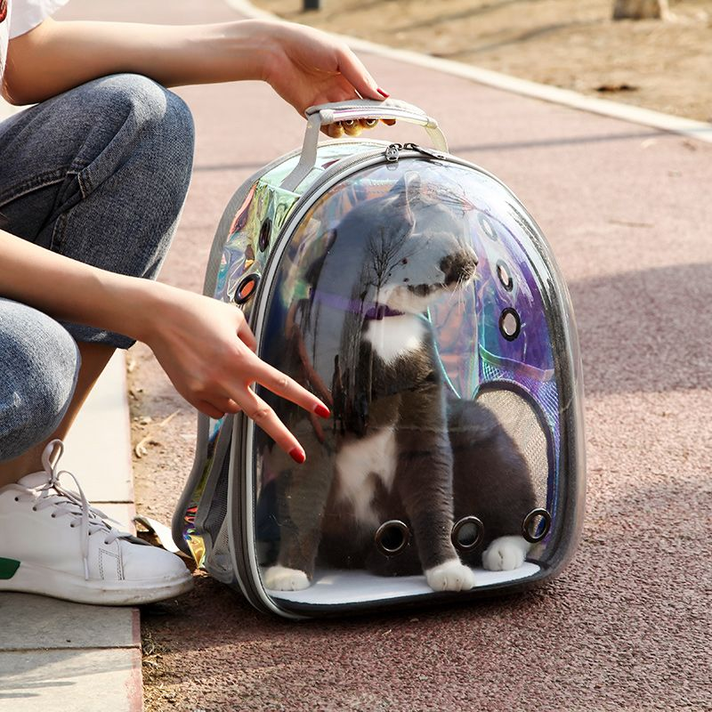 Pet Carrier Bag Space Backpack Space Capsule Mesh Breathable Cat Small Dog Travel Outdoor