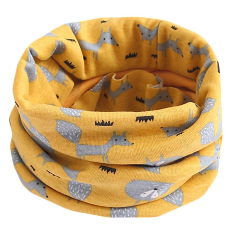 Весенний детский хлопковый шарф, теплый шарф для маленьких детей, осенне-зимние шарфы с героями мультфильмов для мальчиков и девочек, детский воротник с круглым вырезом, волшебный шейный платок - Цвет: 53