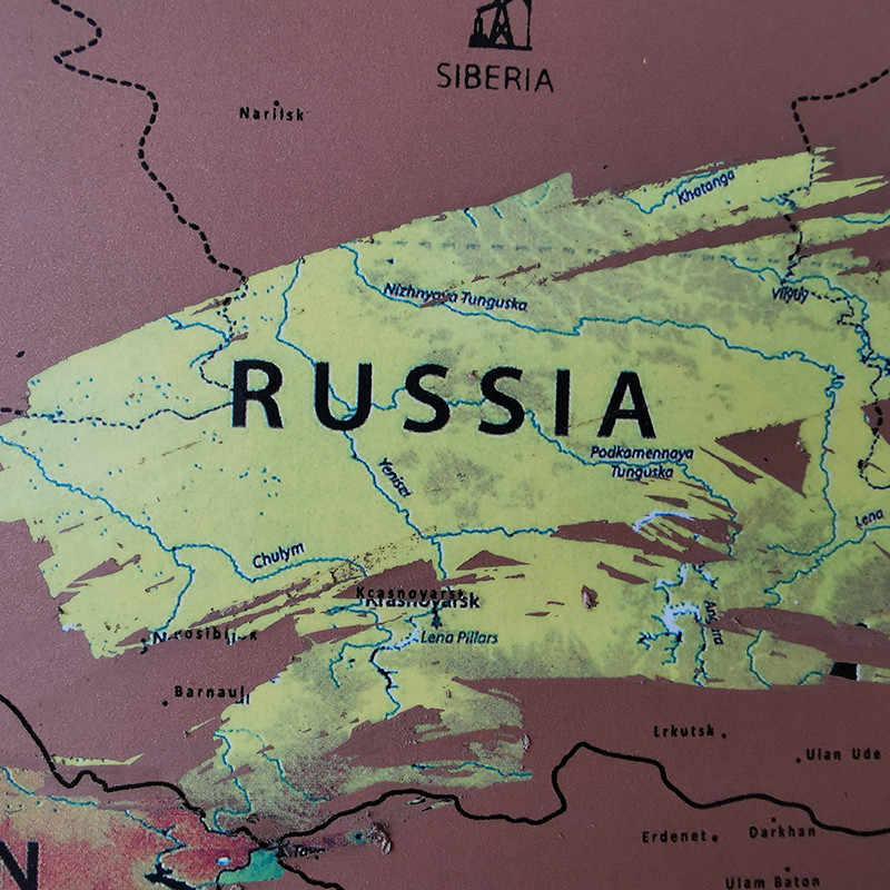 Mapa para rascar 82*59cm, pegatinas de pared para decoración del hogar, mapa del mundo de pegatinas de juguete, banderas nacionales de 252, papel impermeable sin mapa para raspar