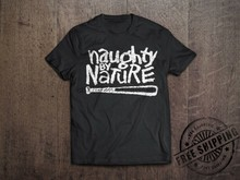 Naughty Door Natuur T-shirt 100% Ringgesponnen Katoen Hip Hop Retro Run Dmc Rapper Tee(China)