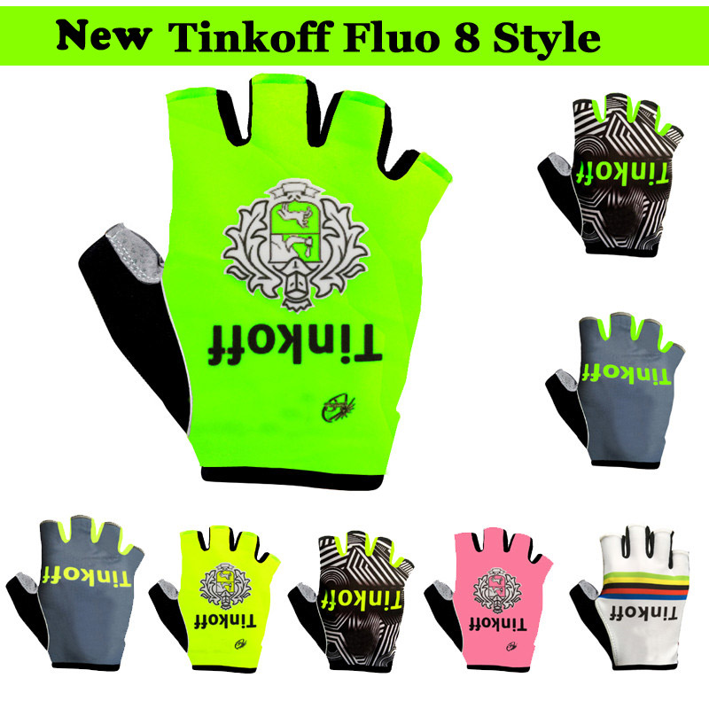 2019 Newest TINKOFF Cycling Gloves MTB Mountain Bike Bicycle Summer Gloves Gel Half Finger Gloves Shockproof Sports Gloves