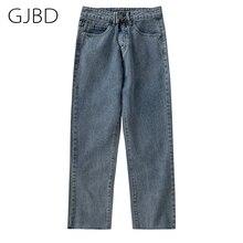 Blue Jeans Trouser Streetwear-Pants Y2K Straight Spring Vintage High-Waist Baggy Fashion