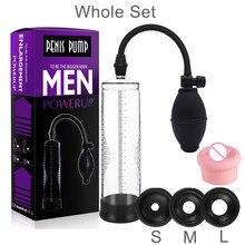 Penis Vacum Enlargement Pump Men Masturbator Penis Sucker Extender Stimulator Sex Toy For Men Dick Up Ejaculation Delay Training