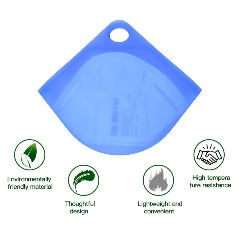 N95 reutilizável máscara facial clipe de armazenamento à prova de umidade anti-poeira meio transparente durável protetor de rosto caixas de armazenamento dropshipping
