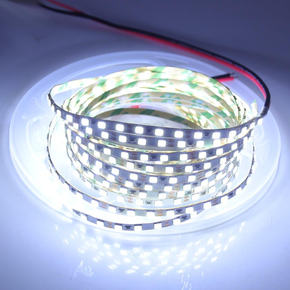 5M DC12V LED Strip Light SMD2835 120LEDs/M LED Tape 4MM PCB Flexible LED Ribbon for Backlight LED Light Strip for Decoration