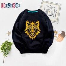 Limited Time Discount Kids Sweatshirts Girl Sweatshirt Autumn Clothes Boys Long Sleeve Cartoon Wolf Printing Fashion Top