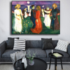 Dance of Life Edvard Munch Abstract Oil Painting on Canvas 1