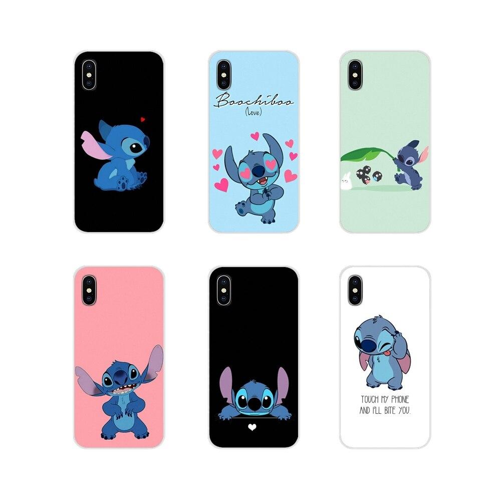 Cartoon Lilo & Stitch For LG G3 G4 Mini G5 G6 G7 Q6 Q7 Q8 Q9 V10 V20 V30 X Power 2 3 K10 K4 K8 2017 Transparent TPU Cases Covers