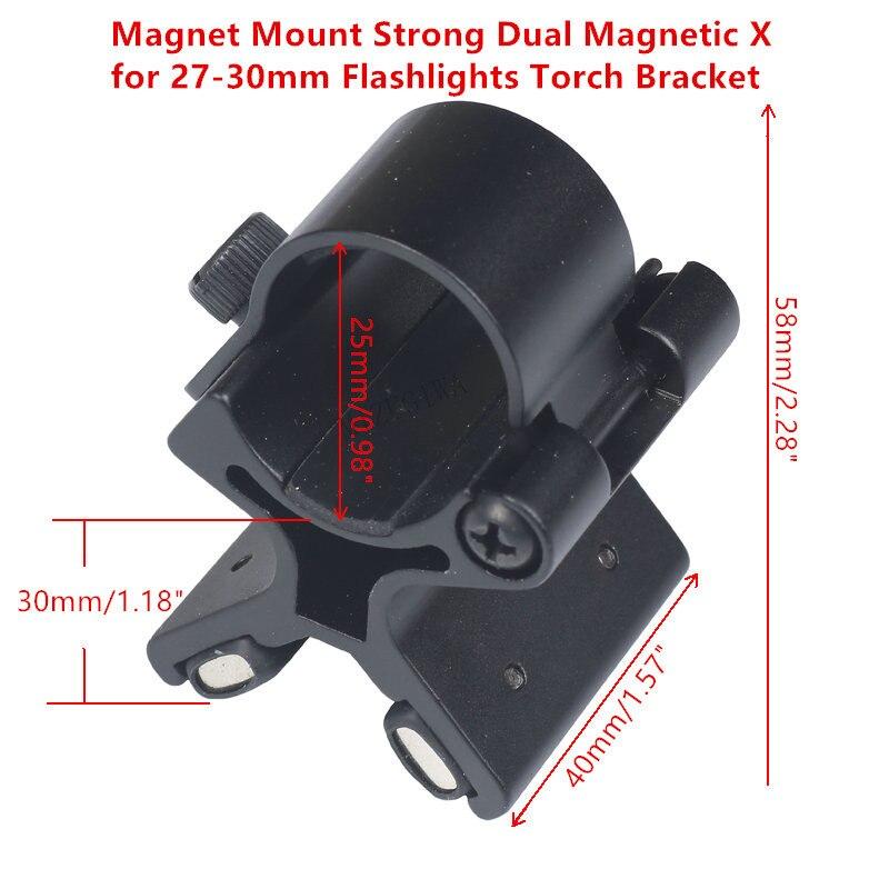 Magnet Mount Strong Dual Magnetic X For 24-27mm 27mm-30mm Flashlights Torch Bracket Scope Gun Barrels Mount Tactical