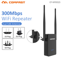 Comfast CF WR302S موزع إنترنت واي فاي لاسلكي مكرر 300 متر 10dBi هوائي واي فاي مكرر إشارة 802.11N/B/G Roteador واي فاي رانج تمديد