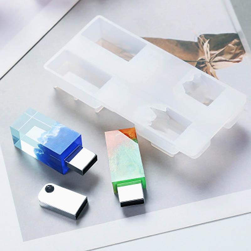 1pc 8GB 16GB Resin Silicone Mold U Disk Imitation Mountain Snow Mountain Peak Broken Resina Mold Handmade DIY Making Tool Epoxy