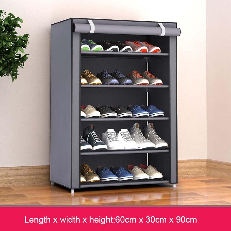 Нетканые тканевые простые шкафы для обуви, близко к стандартной полке для обуви, органайзер, шкаф для хранения домашней мебели, стойка для о...