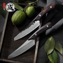 Mitsumoto sakari 5'inch polegadas japonês alto carbono durável aço artesanal pequena faca rosewood lidar com caixa de presente