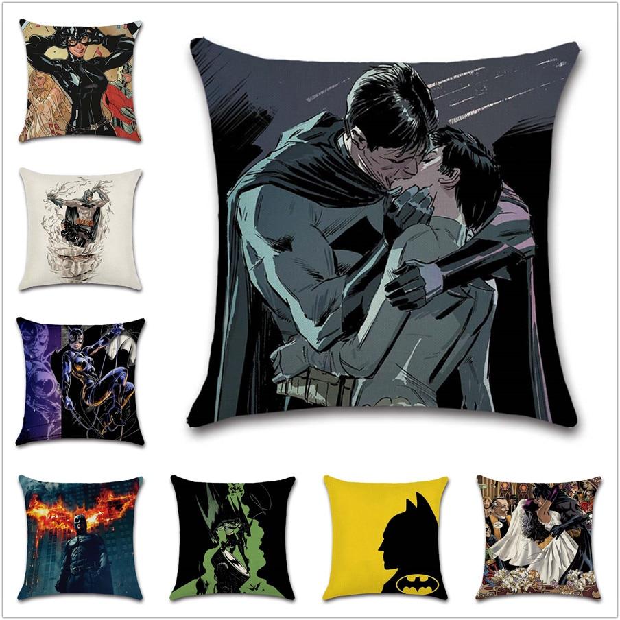 Catwoman-housse de coussin pour mariage | Décoration de canapé, amour Batman, pour maison chambre à coucher, cadeau pour enfant