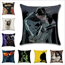 Catwoman Batman love Wedding comic cushion cover Decor Chair sofa seat car Decorative pillowcase Home house