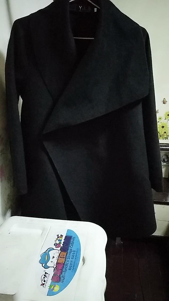 Lã Poncho Jacket Capa de Inverno Quente Parka Casaco Outwear