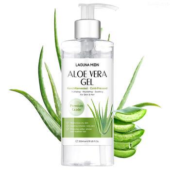 LAGUNAMOON Natural Organic Pure Anti Acne Sunburn Relief Gel Deeply Hydrating Aloe Vera Gel Daily Soothing Moisturizers 200ml 1