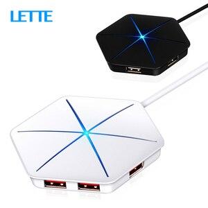 6 портов USB2.0 концентратор 1 м кабель сплиттер с устройство для чтения карт SD TF крутой светильник зарядка USB 2,0 3,0 концентратор для мульти-устро...