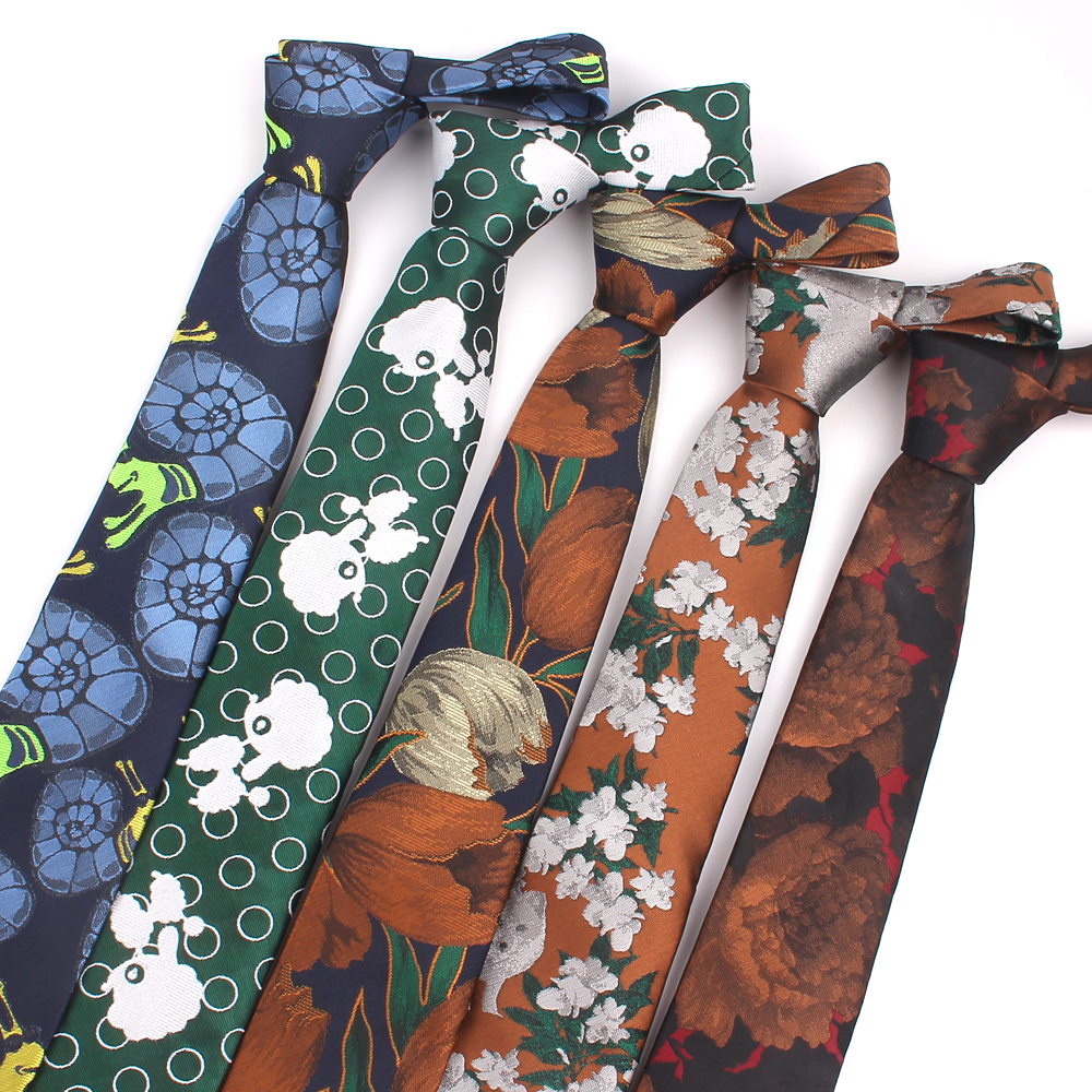 Jacquard Floral Ties For Men Women Classic Suits Mens Neck Ties Skinny Casual Neck Tie Fashion Skinny Necktie For Wedding Party