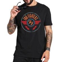 Rock band tshirt foo fighters camiseta tamanho da ue verão de alta qualidade 100% algodão macio impressão digital básico topos t