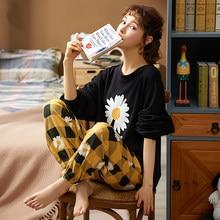 MELIFLE jesień 100% bawełna czarny piżamy zestaw dla kobiet wiosna ciepłe Atoff strona główna satynowa bielizna nocna miękkie Kawaii Silk Lounge bielizna nocna
