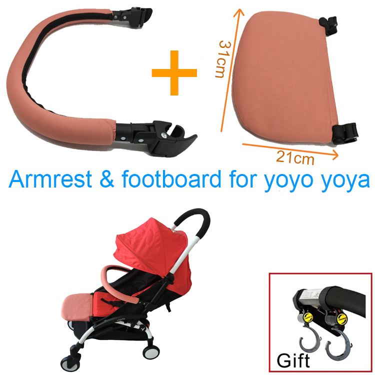 3pcs/set Baby Stroller Yoya Accessories Footboard Armrest And Hook For Babyzen Yoyo Babytime Babysing Baby Throne Baby Carriages