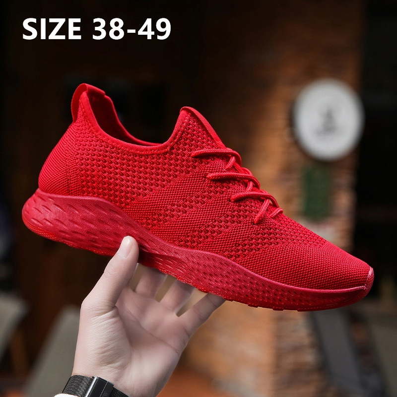 Classic Lightweight Men Casual Running Shoes Zapatillas Hombre  Mesh Lightweight Breathable Soft And Comfortable Plus Size 49