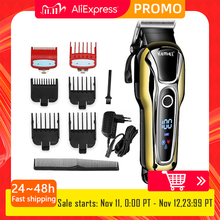 Kemei Hair clipper professional hair trimmer for men beard electric cutter hair cutting machine haircut LCD Cordless corded 5