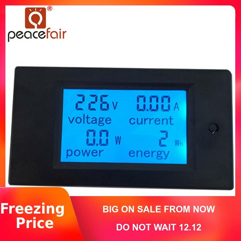 PEACEFAIR New product Digital AC 20A 4IN1 voltage current power energy Voltmeter Ammeter
