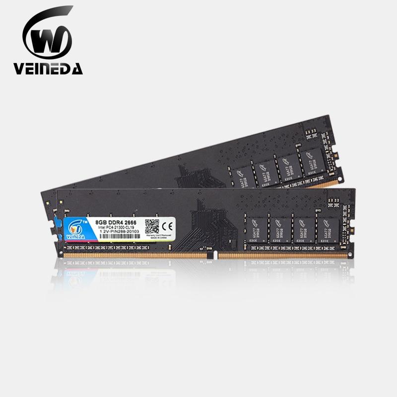 VEINEDA ddr4 8 gb PC Computer RAM  4GB 8GB  4G 8G  Memory DDR 4 PC4 2133 2400 2666Mhz Desktop DDR4 Motherboard Memoria 288-pin 1