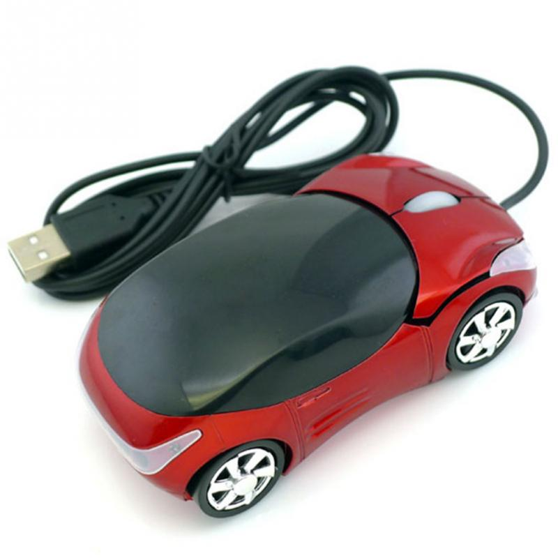 1600DPI Mini Car shape USB optical wired mouse innovative 2 headlights mouse for desktop computer laptop Mice Brand new image