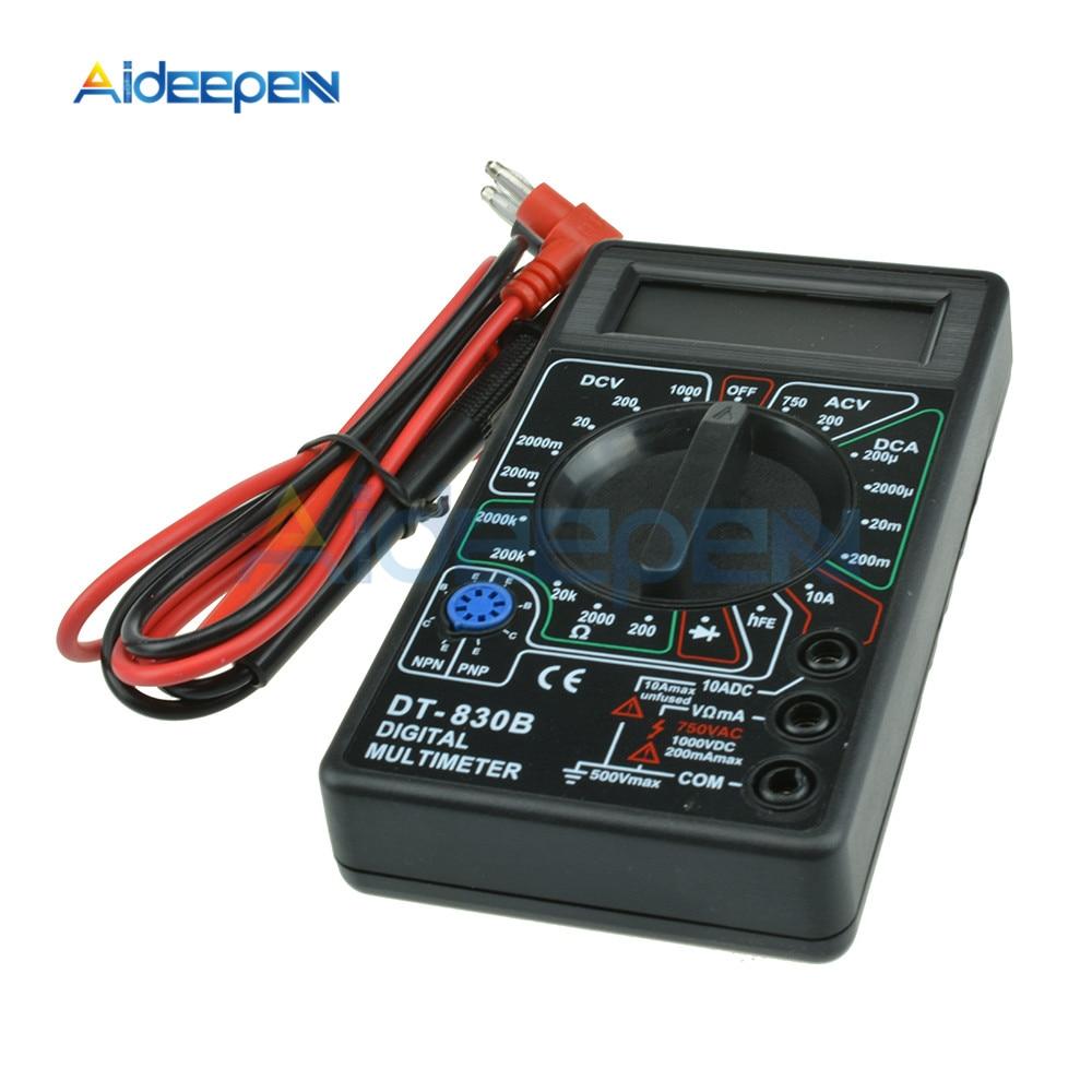 DT830B AC/DC Digital Multimeter 750/1000V Voltmeter Ammeter Ohm Tester Safety Handheld Meter Digital Multimeter With Test Leads