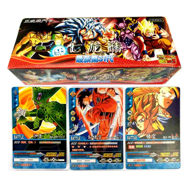Japan Dragon Ball Gme Playing Cards Carton Dragon Ball  Game Cards Japan Boy Girls  Cards Collection For Fun Toy