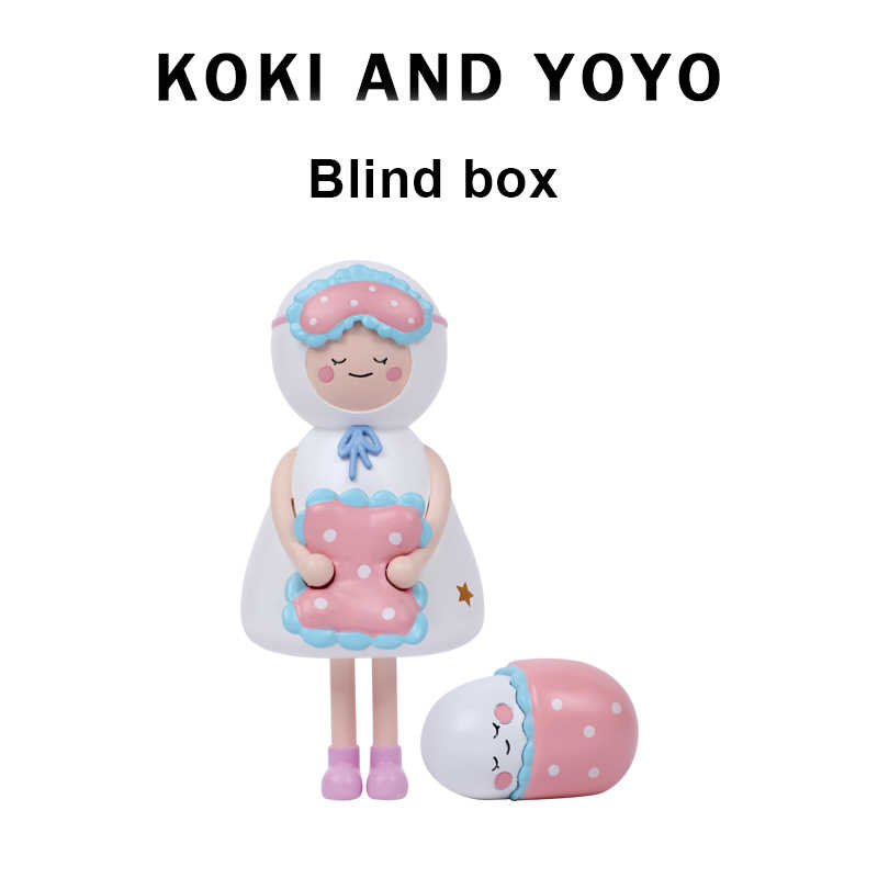 Koki En Yoyo Kleine Ghost Regenjas Pop Blind Doos Auto Decoratie Puppets Model Pop Decoratie Leuke Garage Kit Geschenk Speelgoed