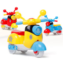 1Pcs Kids Mini Motorcycle Toy Pull Back Diecast Motorcycle Model Boy Girl Early Learning Educational Toys For Children Baby(China)