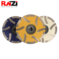 Raizi 4 inch/100 mm Resin Filled Diamond Grinding Cup Wheel for Granite Marble Engineered Stone Coarse Medium Fine Grinding Disc