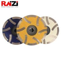 Raizi 4 inch/100 mm Resin Filled Diamond Grinding Cup Wheel for Granite Marble Engineered Stone Coarse Medium Fine Grinding Disc