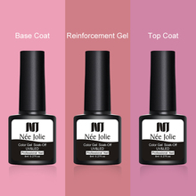 NEE JOLIE 8ml Reinforcement Gel Nail Protector Thickness Enhancer Protein Tempered Top Coat Base Soak Off Art