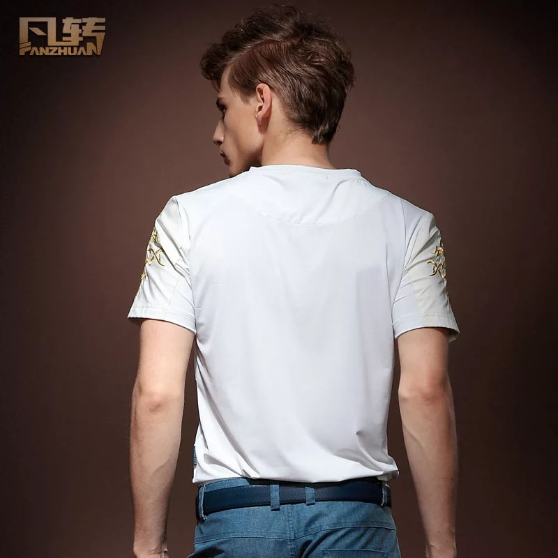 Image 2 - FanZhuan free shipping New casual mens male short sleeved Palace