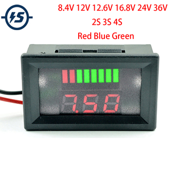 Battery Gauge Car Capacity Monitor Panel Status Indicator 12V 24V 36V LCD Digital Battery Tester for Universal Auto Car Vehicle image